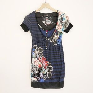 Desigual Flower Print Rainbow Dress